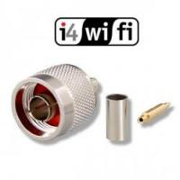 WaveCon Konektor N/male (H155/RF240) krimpovací